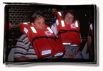 Sue and Lesley thought of buying a couple of life vests to wear out to the bars when the got back to St. Louis.