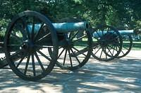 Civil war cannons in the park on top of Lookout Mountain.