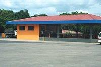 "Our first stop was to have lunch at this small ""soda"" just south of Liberia on the Norte' Americana.  Jim ordered a &q"