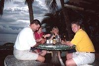 Greg, Lesley, Sharon, and Jim enjoy a beer during our break.