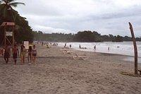 This is the main beach at Manuel Antonio, outside the park and near the restaurant where we had breakfast.