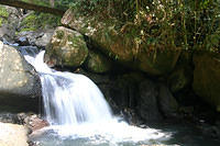 Waterfall below La Mina