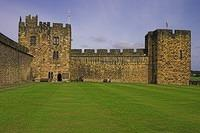 The wall where Harry Potter learned to fly at Alnwich Castle.