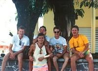 This is the original cruise gang...Sid on the left, me in front with Scott right behind me, and Paul and Dietz.