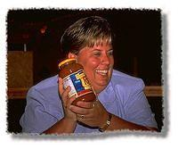 Expecting wine, Sue received a jar of Ragu instead.  It's a long-standing joke between her and Scott; where will the Ragu turn u